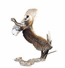 Bird Bronze Sculpture - Barn Owl at Night - Limited Edition. Michael Simpson.