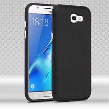 Samsung Galaxy J7 Sky Pro Rubberized Anti-Slip Hybrid Silicone Cover Black