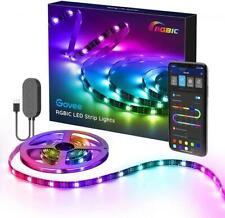 RGB LED Strip 2m Wasserdicht Govee USB Betrieb Steuerbar per App und Musik Sync