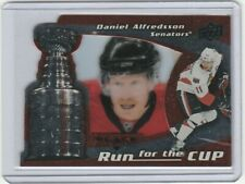 2008-09 Black Diamond #26 Run for the Cup Daniel Alfredsson /100