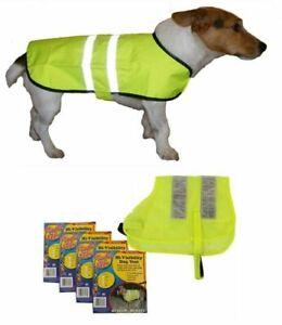 Hi Viz High Visibility Pet Dog Vest Reflective Fluorescent Safety Jacket M L XL