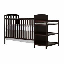 Dream On Me Anna 4-in-1 Converitble Crib and Changing Table in Espresso