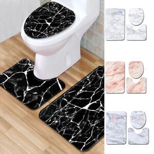 3pcs Bathroom Lid Toilet Cover Bath Mat Non-Slip Rug oilet Lid Cover Bath Mat