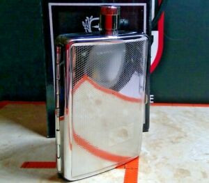 COLIBRI  STAINLESS STEEL FLASK W/CIGARETTE HOLDER  NEW IN BOX !