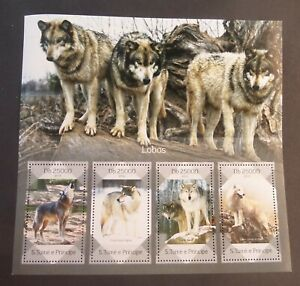 St Thomas & Prince Island 2014 wolves sheetlet MNH UM unmounted