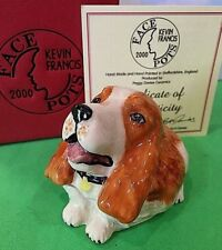 Kevin Francis Face Pots 2001 Spiro Springer Spaniel Brown White Signed 386 Made