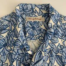Tommy Bahama Short Sleeve Button Front 100% Silk Hawaiian Camp Shirt L Floral