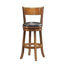 Boraam 45129 Palmetto Bar Height Swivel Stool 29in Fruitwood