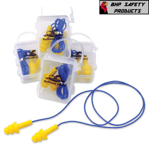 10 Pair Soft Silicone Corded Ear Plug Reusable Hearing Protection Earplug w/Case