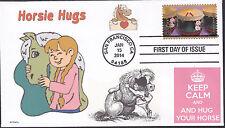 HUG YOUR HORSE  HORSIE HUGS  KEEP CALM         FDC- DWc CACHET