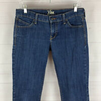 Old Navy Diva womens size 6S stretch blue med wash low rise skinny slim jean EUC