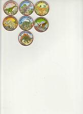 "Complete Dinosaur Series Set 7 coins ""Colorized"" 1 oz. Copper Rounds"