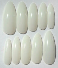 NEW STYLE! ALMOND STILETTO EXTRA LONG NATURAL Nails 20pc False Full Cover Art