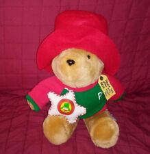 Vintage Sears Kids Gifts PADDINGTON BEAR Tan 15in Plush Green Shirt Red Hat 1995