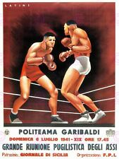 SPORT EXHIBITION BOXING SICILY ITALY VINTAGE POSTER ART PRINT 902PYLV