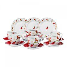 Kaffeeservice 18-tlg. Christmas Time rund Porzellan 6 Personen Weihnachtsdekor