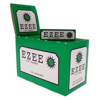 Full Box of Ezee Green Rolling Cigarette Papers Standard Size Cut Corner