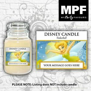 Personalised 'Tinkerbell' Candle Label/Sticker - Perfect birthday gift!
