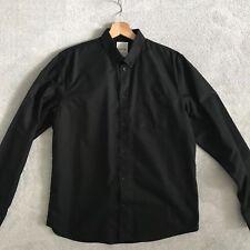 Wood Wood Black Oxford Shirt - Large L - Worn Once Regular Fit Woodwood