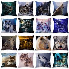 """18"""" animales Wolf Funda De Almohada Almohadón Funda Cubierta Cojín Sofá Casa de las decoraciones"""