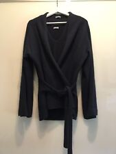 Original MALO Twinset navy it. 48 cashmere Wickeljacke Top