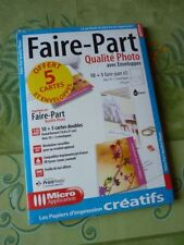 15 Faire-Part A5, 219g, avec enveloppes, Micro application 5030. Noël, fêtes