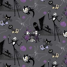 Disney Nightmare Before Christmas Jack In The Box 100% cotton fabric by the yard