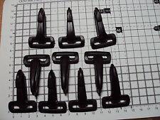 "10 x cane GANCI PLASTICA OSCILLANTE snap clip per Cinghia 25mm ""dkz"""