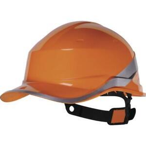 Delta Plus Safety Hard Hat Helmet Bump Baseball Cap Hi Vis Reversible(Diamond V)