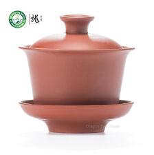 Red Pure Yixing Zisha Clay Chinese Gongfu Tea Gaiwan 100ml 3.38oz