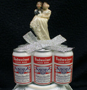 BUDWEISER Beer Lover Wedding Cake topper Groom top. Funny Man cave Theme
