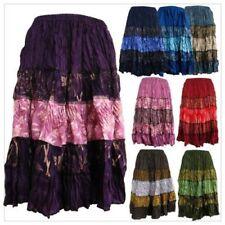 Regular Size Striped Knee-Length Skirts for Women