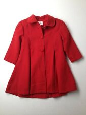 Girl Tip Top Red Dress Swing Holiday Dress Winter Fall Coat Size 4