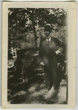 PHOTO ANCIENNE - VINTAGE SNAPSHOT - VOITURE AUTOMOBILE TACOT HOMME - CAR MAN