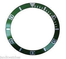 Green & Silver Bezel Insert to Fit Rolex Submariner 16800-2