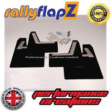 Rally Mudflaps to fit Mitsubishi Evo 7 8 9 Mud flaps x 4 Black No Logo 4mm PVC