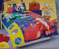 Bob The Builder Construction Single Bed Quilt Cover Set New