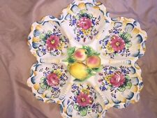 "15"" Vintage Arts and Crafts Ceramic snacks or fruits treat"