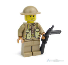 WW2 Custom British Soldier with Sten, Printed with Brickarms Made of Lego Bricks