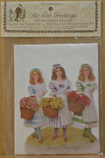 Turn-of-the-Century ~ Die Cut Greetings Card With Stand-Up Easel & Envelope