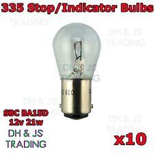 10 x 335 Stop/Tail lampadine 12v 21w doppio contatto lampadina SBC ba15d