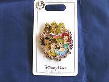 Disney * 7 Princesses / Princess Group * New on Card Trading Pin