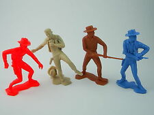 "1x Marx, 1x plastimarx & 2x senza marchio GRANDE 6"" SOLDATINI – Wild West Cowboy"