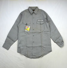 Deadstock Vtg Retro 50s 60s LEE Sanforized Union Rip Stop Gray Work Shirt 15.5 M