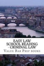 Easy Law School Reading - Criminal Law : Major and Minor Crimes for...