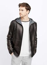Vince Men's Leather Reversible Hooded Jacket - $1095 MSRP - Size MEDIUM - HOT!!!