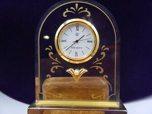 Table watch MIKIMOTO International with pearl, Time Piece Desk Clock New Battery