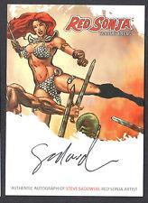 RED SONJA TRADING CARDS (BREYGENT/2012) AUTOGRAPH CARD #RSA-SSB STEVE SADOWSKI