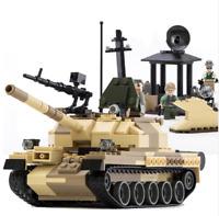 Military War Weapon Armed T-62 Tank Block 372 pcs Fit Lego Blocks Sets