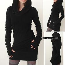 Vestito Mini Maglia Lunga Donna Woman Autumn Hoodie T-shirt Dress Sweater 110211